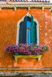 Historisches venetianisches Murano-Insel-Fenster Lizenzfreie Stockbilder