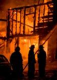 Historisches Vermont-Bauernhof-Feuer Lizenzfreie Stockbilder