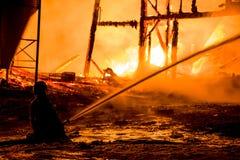 Historisches Vermont-Bauernhof-Feuer Stockbild