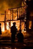 Historisches Vermont-Bauernhof-Feuer Lizenzfreie Stockfotos