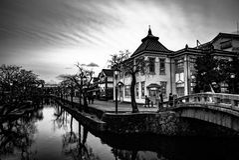 Historisches Viertel Kurashiki Bikan lizenzfreies stockbild