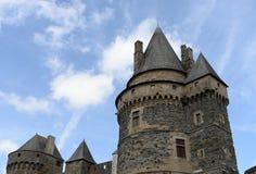 Historisches Vitre-Schloss Stockfotografie