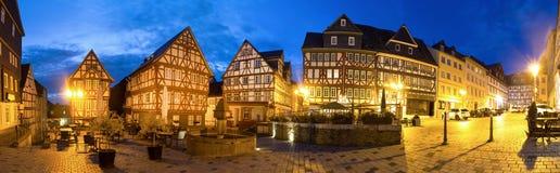 Historisches wetzlar Deutschland im Panorama der Abendhohen auflösung Lizenzfreie Stockfotografie