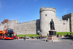 Historisches Windsor Schloss in England Lizenzfreie Stockbilder