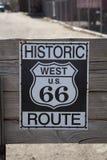 Historisches Zeichen des Weg-66 Lizenzfreies Stockbild