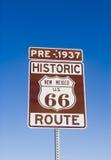 Historisches Zeichen vor 1937 des Mexiko-Weg-66 Lizenzfreies Stockfoto