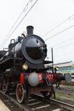Historisk ångalokomotiv Royaltyfri Foto