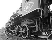 Historisk ångamotor Arkivfoto