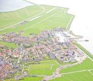 Historisk ö av Marken, Nederländerna Arkivfoto