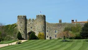 Historisk Amberley slott arkivbild