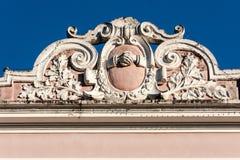 historisk amparobyggnadsfacade Royaltyfri Fotografi