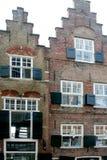 Historisk arkitektur av byggnad med galande-moment gavlar fotografering för bildbyråer