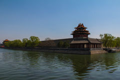 Historisk arkitektur av Peking Arkivfoton