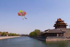 Historisk arkitektur av Peking Royaltyfria Foton
