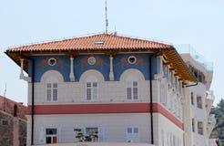 Historisk arkitektur av Piran, Slovenien royaltyfri bild