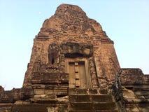 historisk arkitektur axeln Hinduisk tempel, Cambodja royaltyfria bilder