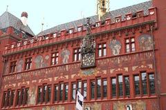Historisk arkitektur i Basel Arkivfoto