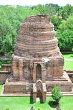 Historisk arkitektur i den Ayutthaya staden Arkivfoto