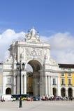Historisk arkitektur - Triumph båge, Lissabon Royaltyfri Fotografi