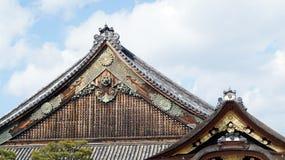 Historisk arkitekturdetalj av nijo-joslotten i Osaka, Japan Royaltyfria Foton