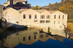 Historisk by av Fermignano Arkivbilder