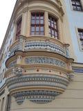Historisk balcon Arkivfoto