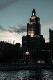Historisk Bank of Americabyggnad, försyn, RI Arkivbild