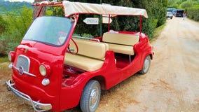 Historisk bil Fiat 600 Multipla Arkivfoto