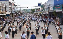 Historisk bild ceremonin av staden av Loei Dansa gudinnan Fotografering för Bildbyråer