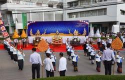 Historisk bild ceremonin av staden av Loei Dansa gudinnan, tillbe gudinnan Kud Pong och tillbe Royaltyfria Bilder