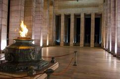 Historisk brandmonument i Argentina Arkivbild