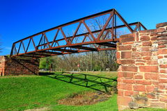 historisk bro Royaltyfria Bilder