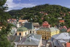 Historisk bryta stad Banska Stiavnica, Slovakien royaltyfria bilder
