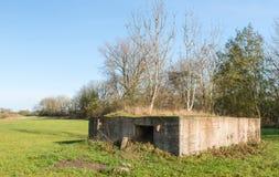 Historisk bunker i Nederländerna Arkivbilder