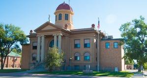 Historisk Butte County domstolsbyggnad i Belle Fourche South Dakota Royaltyfri Bild