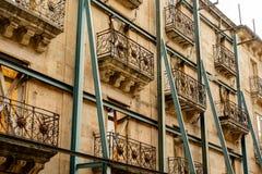 Historisk byggnadåterställande i Salamanca, Spanien royaltyfri foto