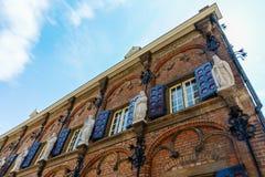 Historisk byggnad av den latinska skolan i Nijmegen, Nederländerna Arkivfoton