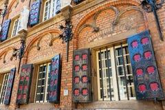 Historisk byggnad av den latinska skolan i Nijmegen, Nederländerna Fotografering för Bildbyråer