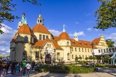 Historisk byggnad av det Balneology institutet i Sopot, Polen Royaltyfri Fotografi