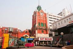 Historisk byggnad av nytt marknadsför Arkivbilder