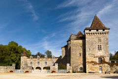 Sanktt Jean de Cole, Chateau de La Marthonie Royaltyfria Foton