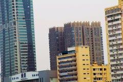 Historisk byggnad för Shamian Guangzhou stad arkivbild