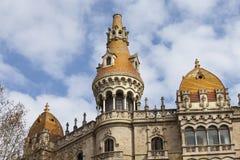 Historisk byggnad historisk mitt av Barcelona, Spanien Arkivbilder