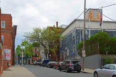 Historisk byggnad i Charlestown, Boston, MOR, USA Royaltyfri Bild