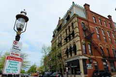 Historisk byggnad i Charlestown, Boston, MOR, USA Royaltyfria Bilder