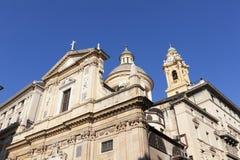 Historisk byggnad i Genua Royaltyfri Foto