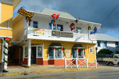 Historisk byggnad i George Town, Caymanöarna Arkivfoton