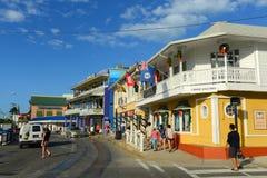 Historisk byggnad i George Town, Caymanöarna fotografering för bildbyråer