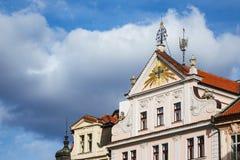 Historisk byggnad i Prag, Tjeckien Arkivbild