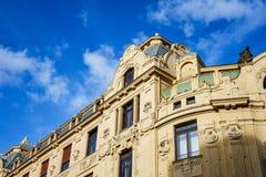 Historisk byggnad i Prag, Tjeckien Fotografering för Bildbyråer